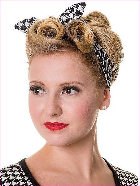 BANNED Dogtooth Haarband #50 #PinUp #Frisuren #Retro #Glam ...
