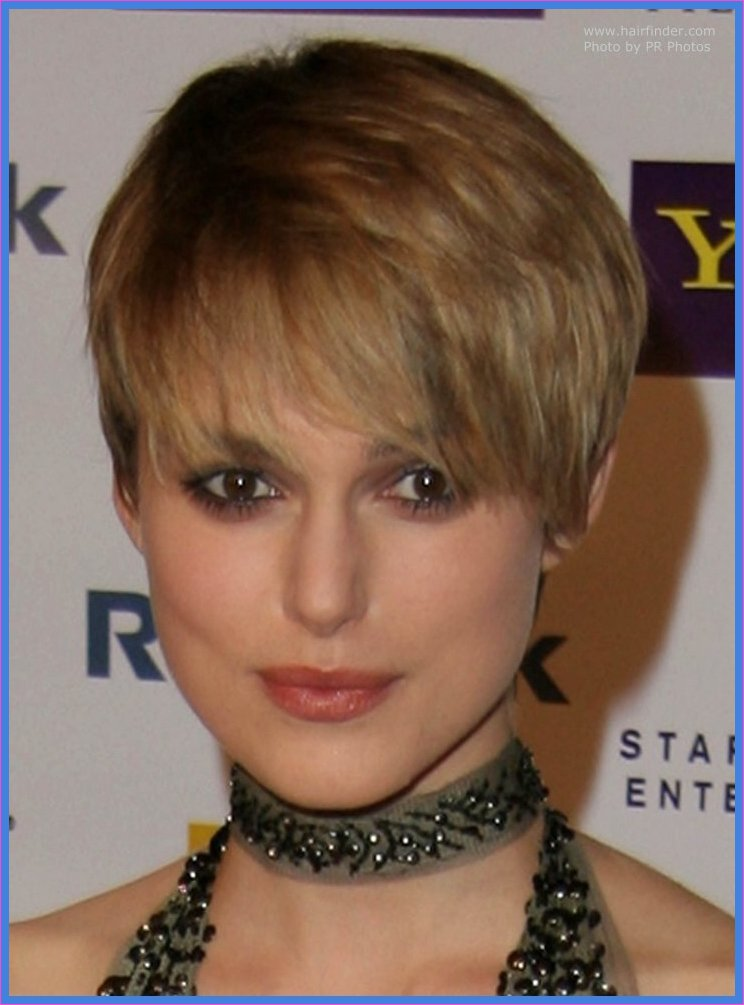 Keira Knightley\'s extra short haircut with forward styling   Great ...