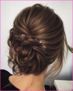 Prom Makeup Prom Hair Updo #braids #Short Hair # Middle Length Hair ...