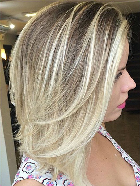 18+ Glamorous Shoulder Length Soft Blonde Hairstyles 2019 for Women