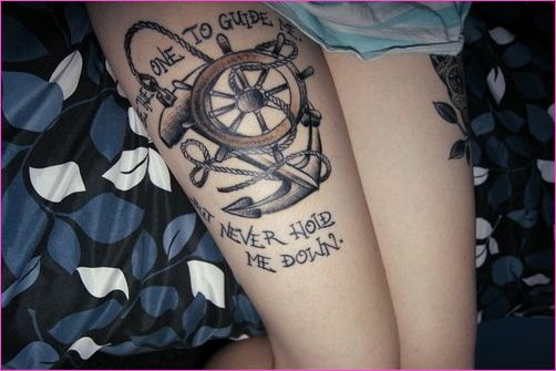 Be the one to guide me but never hold me down | TATTOOS