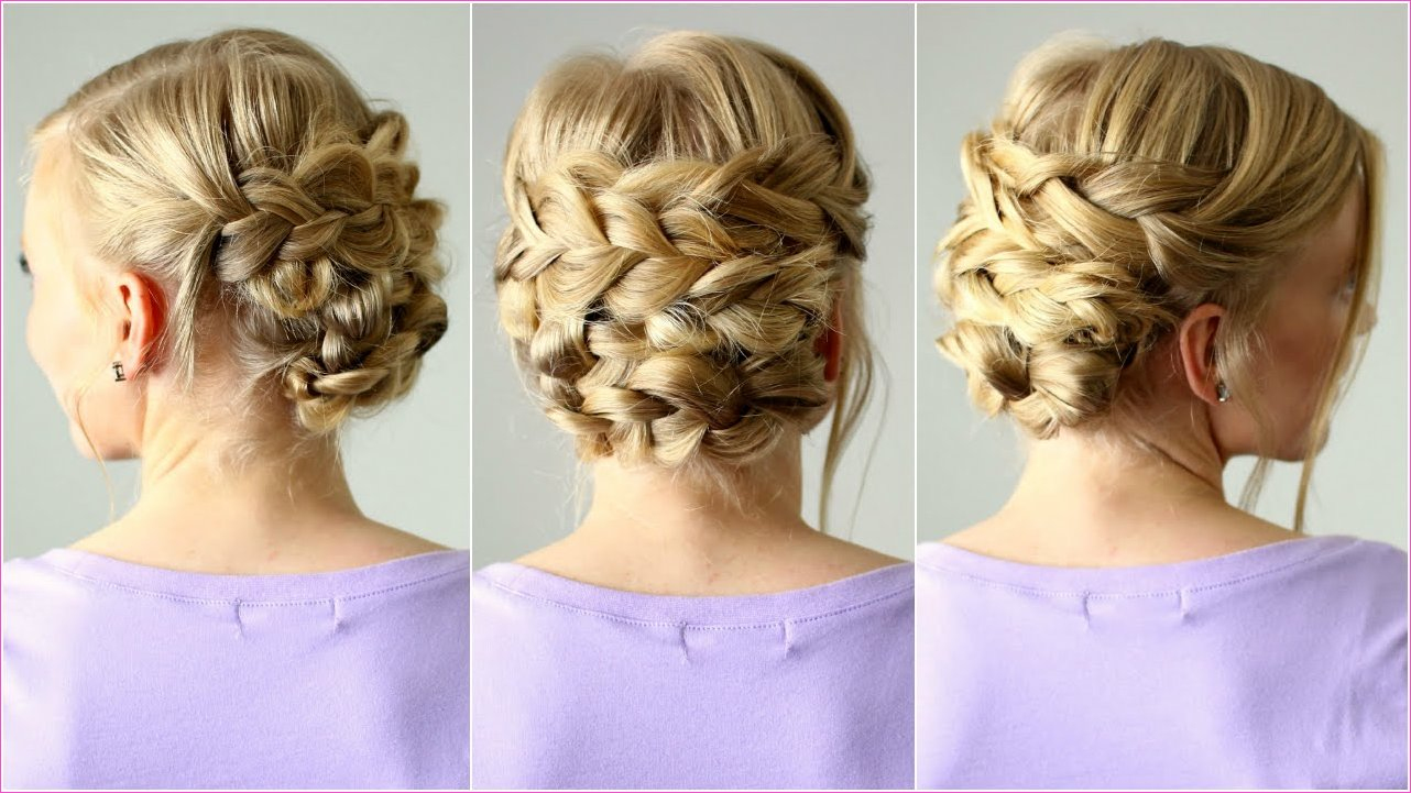 Braided Updo for Shorter Hair | Missy Sue