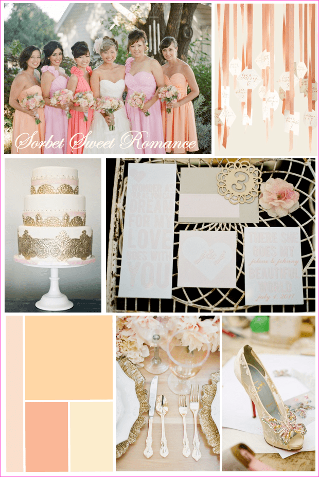 Spring Wedding Inspiration: Sorbet Sweet Romance Kailey-Michelle Events
