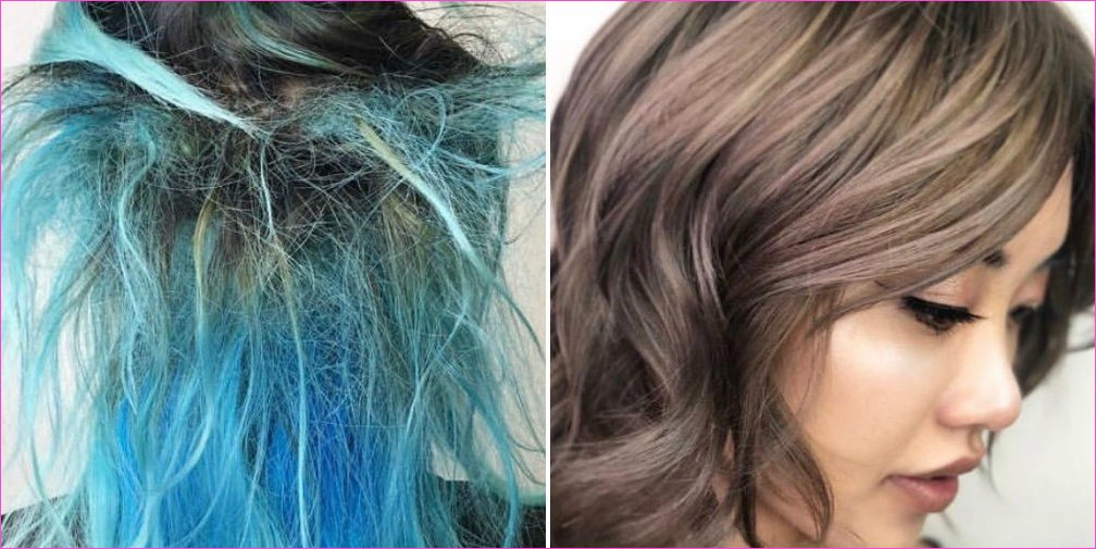 Colorist Transforms Client's Dry, Blue Hair With Extensions