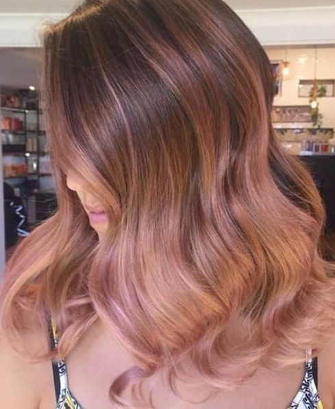 22 Rose Gold Ombre