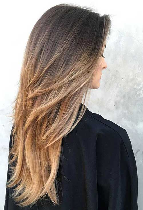 5. Blonde Ombre Colored Layered Haarschnitt zu Gunsten von Frauen